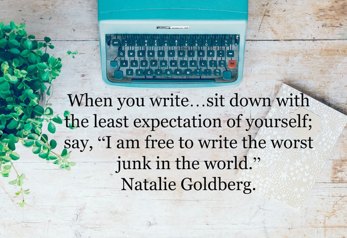 Natalie Golberg quote on writing