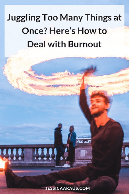 how to deal with burnout pinterest graphic