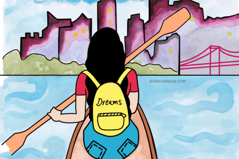 Pursue your dreams illustration