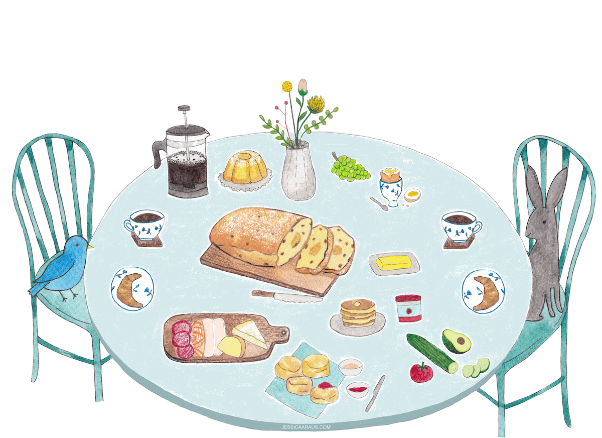 Easter Brunch illustration
