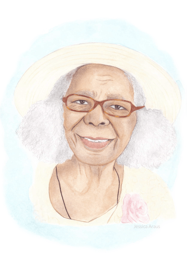 Hand painted memorial portrait from photo