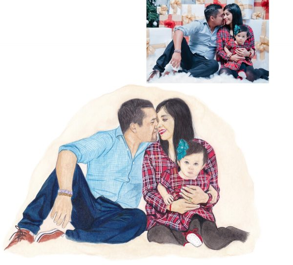 family portrait commission with reference photo