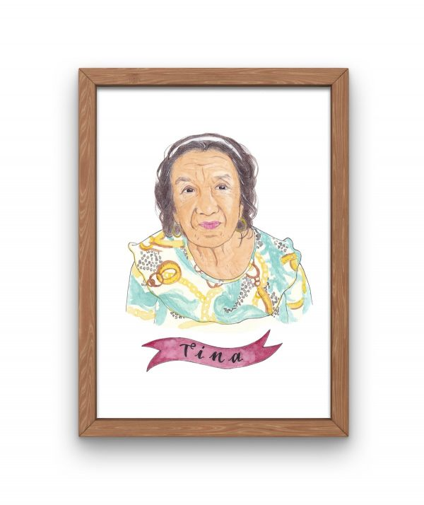 illustrated grandmother portrait