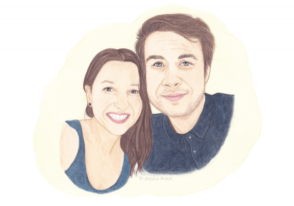 Illustrated Couple Portrait