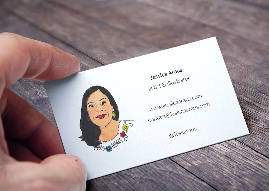 artist and illustrator business card