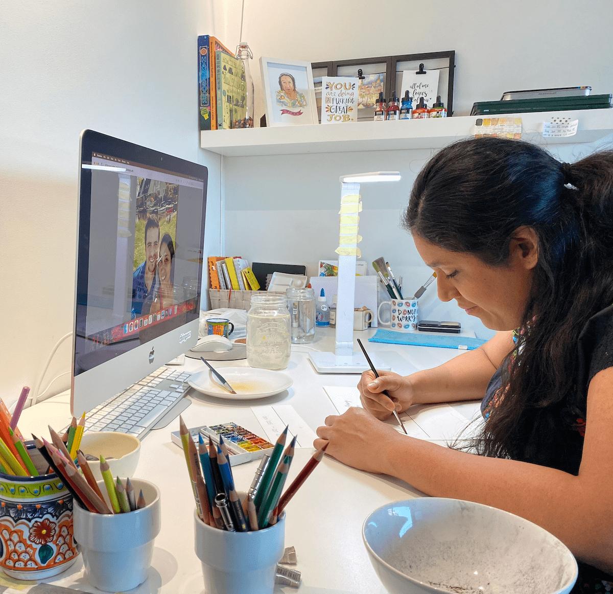 art studio corner