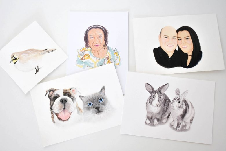 a collection of artworks by Jessica Araus